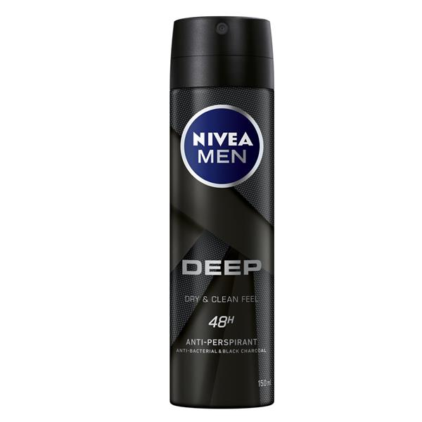NIVEA MEN DEEP CLEAN BLACK CHARCOAL DEODORANT 150ML