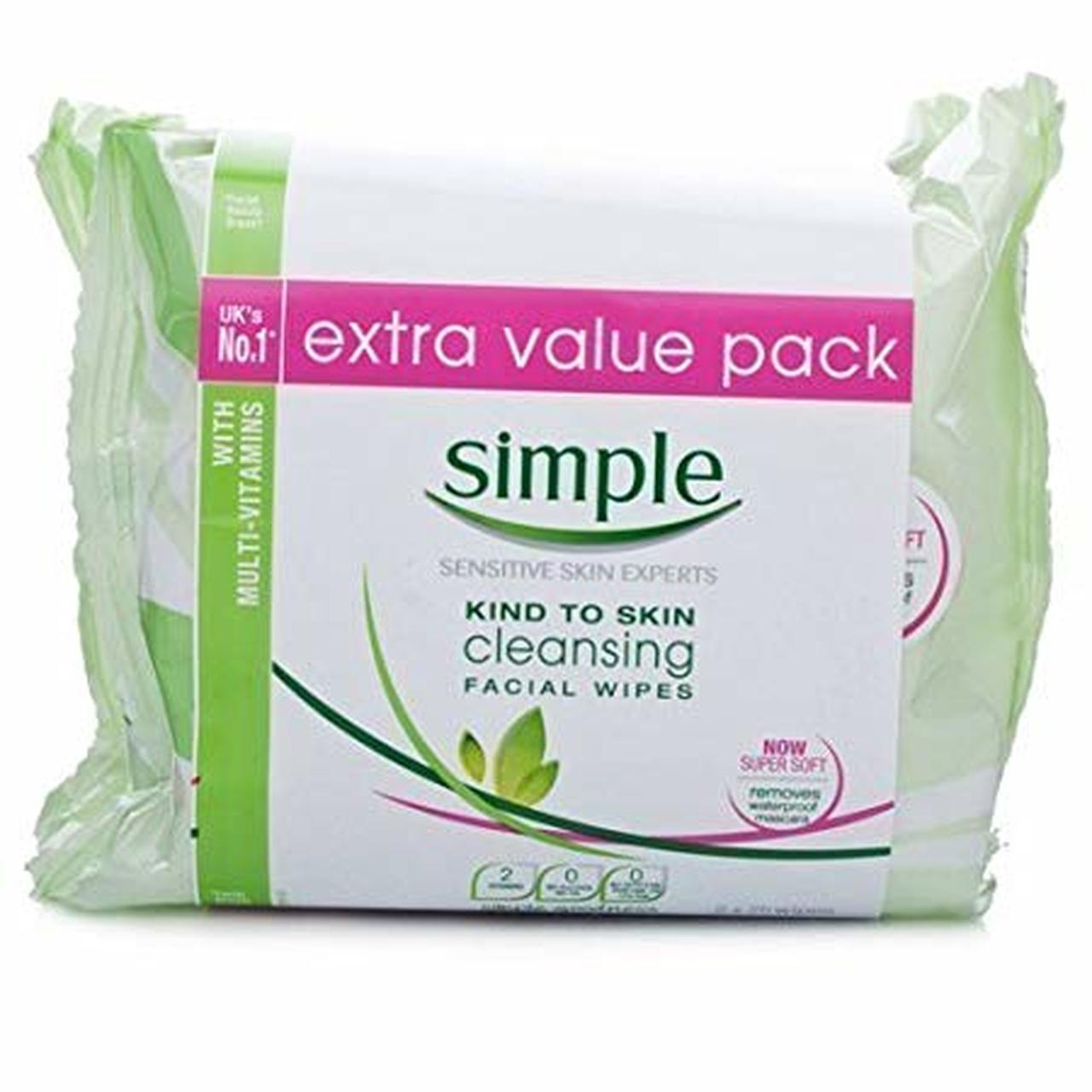 SIMPLE CLEANSING WIPES 2 PACK (50's)