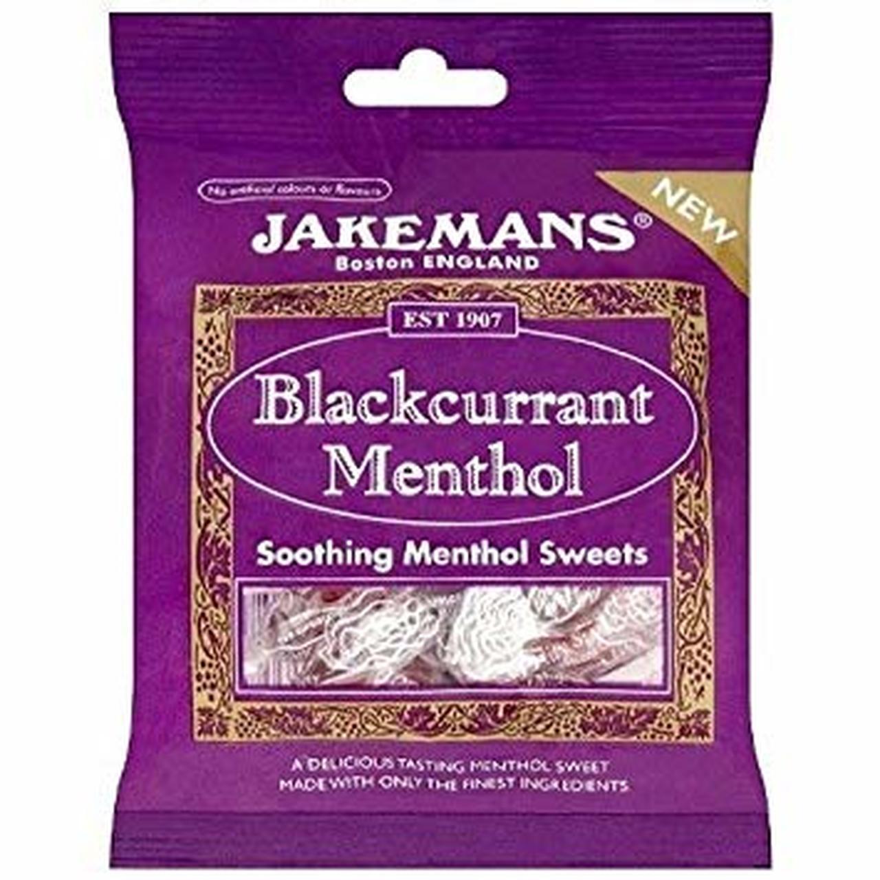 JAKEMANS BLACKCURRANT AND MENTHOL 100G