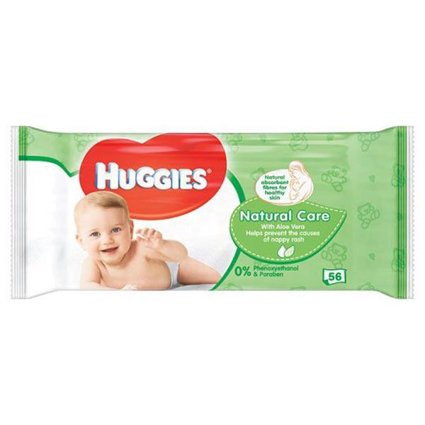 HUGGIES WIPES NATURAL CARE (56's)