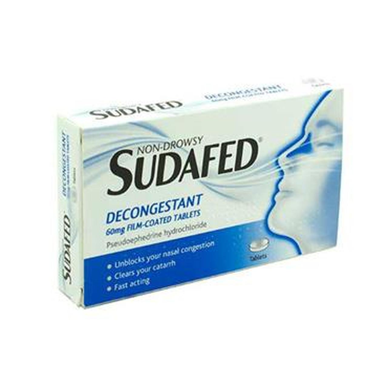 SUDAFED DECONGESTANT 60MG FILM COATED TABS PH ONLY (12's)