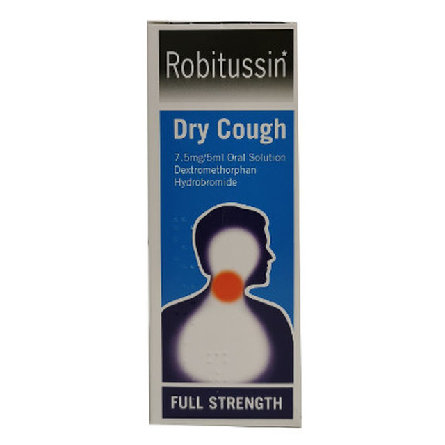 ROBITUSSIN DRY COUGH 7.5MG 5ML ORAL SOLUTION 100ML