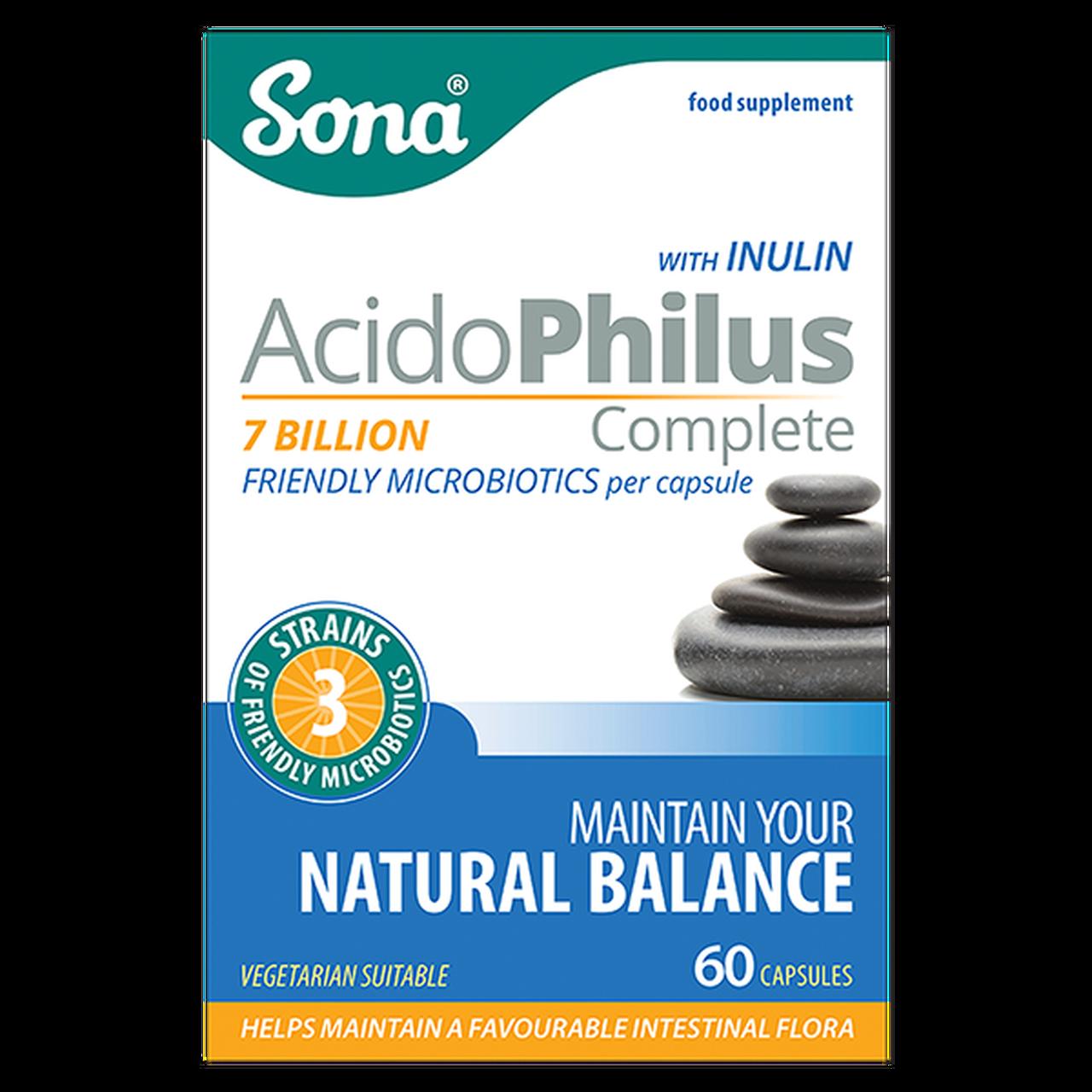 SONA ACIDOPHILUS COMPLETE CAPS (60's)
