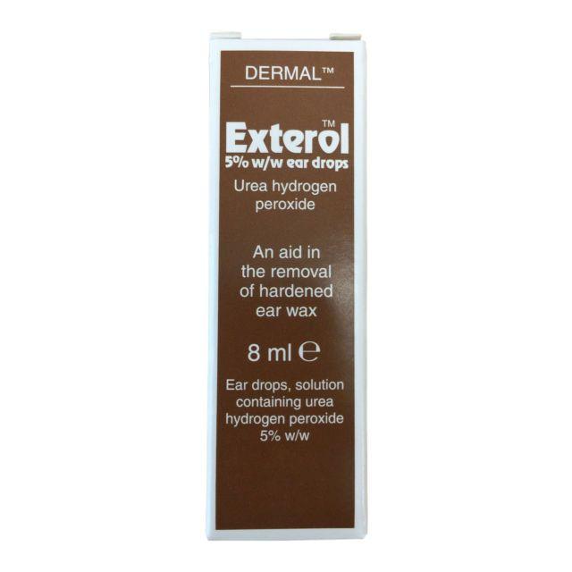 EXTEROL 5 PERC EAR DROPS SOLUTION 8ML