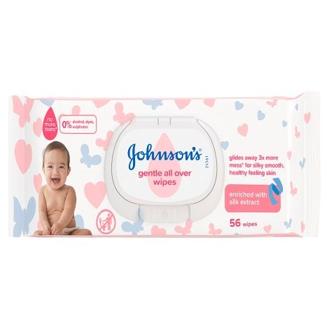 JOHNSONS WIPES GENTLE ALLOVER (56's)