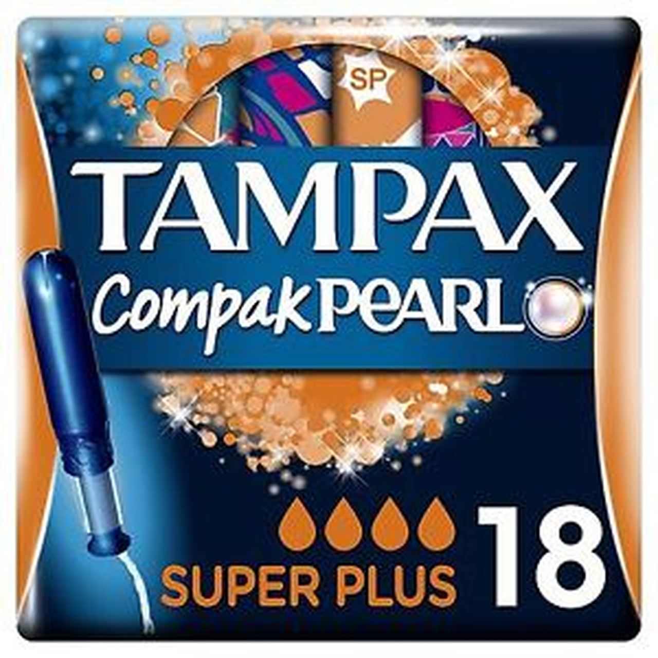 TAMPAX COMPAX PEARL SUPER PLUS (18's)