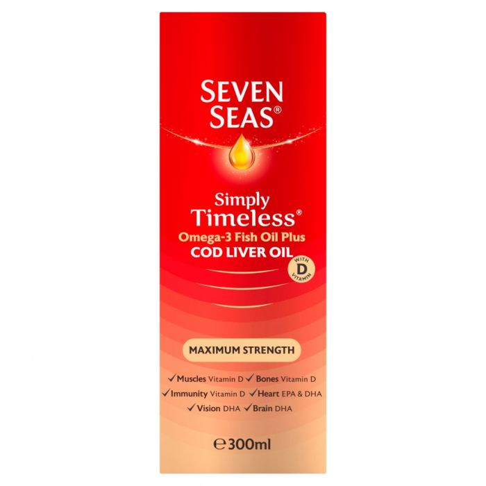 SEVEN SEAS COD LIVER OIL EXTRA HIGH STRENGTH LIQUID 300ML